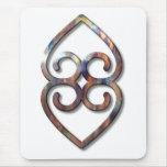 Adinkra-earth-copper Mousepads