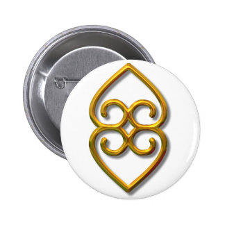 Adinkra-earth-gold Buttons