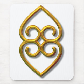 Adinkra-earth-gold Mouse Pad