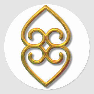 Adinkra-earth-gold Stickers