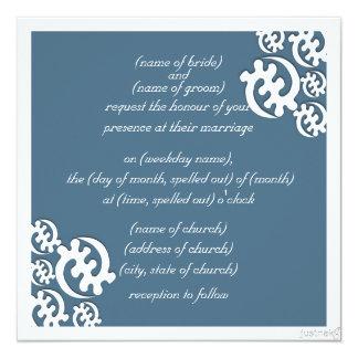 adinkra gye nyame (except for God) agate blue Invite