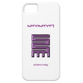 Adinkra - Nkyinkyim - cubierta del teléfono iPhone 5 Fundas
