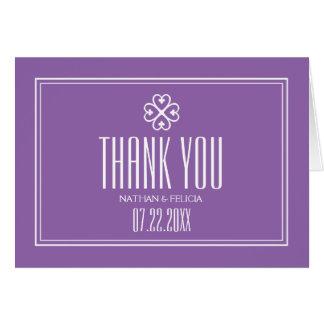 Adinkra Nyame Dua Symbol Lavender Thank You Card