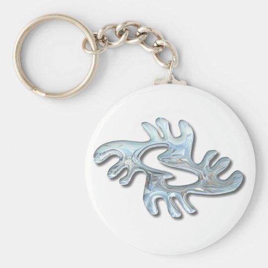 Adinkra-peace-glass Keychain