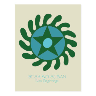 Adinkra Sesa Wo Suban - New Beginnings Postcard