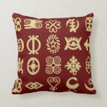 Adinkra, símbolos africanos, África, sabiduría Cojines