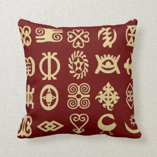 Adinkra, símbolos africanos, África, sabiduría Cojín