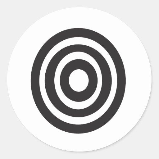 Adinkra symbol round sticker