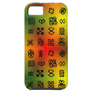 Adinkra Symbols With African Colors iPhone 5 Covers