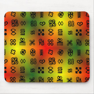 Adinkra Symbols With African Colors Mouse Pad