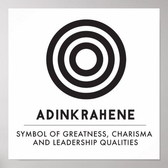 Adinkrahene Greatness Character Leadership Poster Zazzle