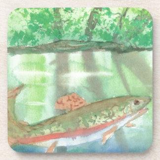 Adiorondack Reflections watercolor Drink Coaster
