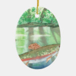 Adiorondack Reflections watercolor Christmas Tree Ornaments