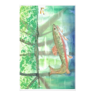 Adiorondack Reflections watercolor Personalized Stationery
