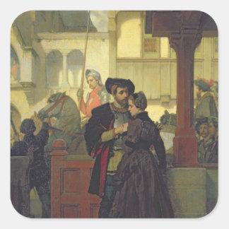 Adiós, 1864 calcomanía cuadrada