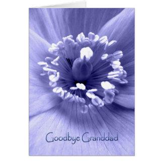 Adiós abuelo, tarjeta de condolencia