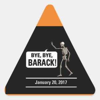 ¡Adiós, adiós, Barack! Pegatina Triangular