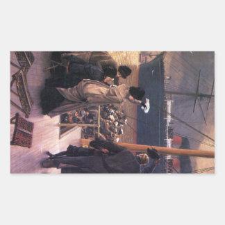 Adiós al Mersey de James Tissot Rectangular Altavoces