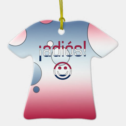 ¡Adiós! America Flag Colors Pop Art Double-Sided T-Shirt Ceramic Christmas Ornament