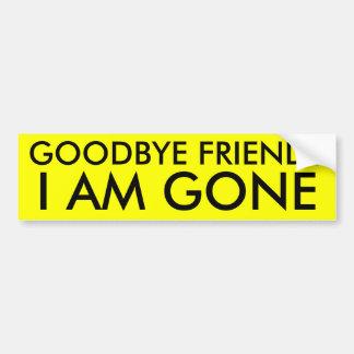 adiós amigos pegatina para auto