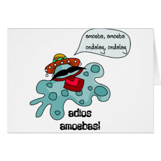 Adios Amoebas Card