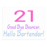 Adiós camarero de la gorila 21 hola (color) postales
