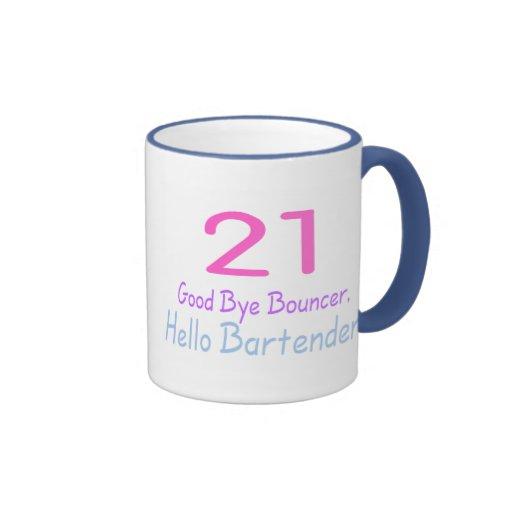 Adiós camarero de la gorila 21 hola (color) tazas de café