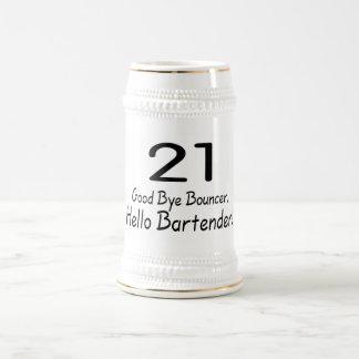 Adiós camarero de la gorila 21 hola (negro) jarra de cerveza
