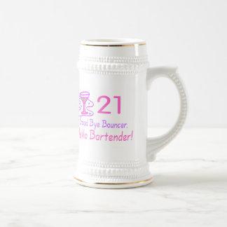 Adiós camarero de la gorila 21 hola (rosa) jarra de cerveza