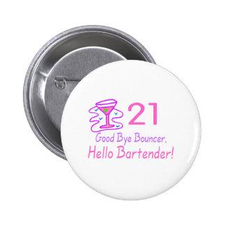 Adiós camarero de la gorila 21 hola (rosa) pin redondo 5 cm