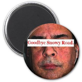 adiós camino nevoso…. imán redondo 5 cm