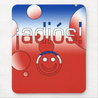 ¡Adiós! Chile Flag Colors Pop Art Mouse Pad