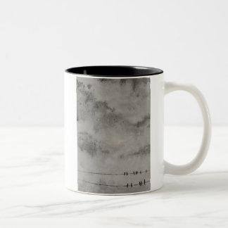 adiós cielo azul taza de café de dos colores