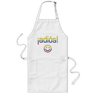 ¡¡Adiós! Colores de la bandera de Ecuador Delantal Largo