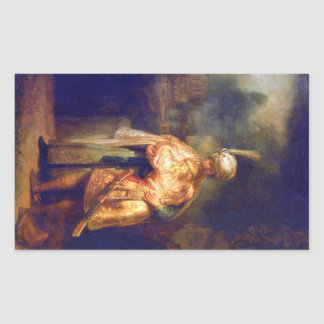 Adiós de Davids con Jonatán de Rembrandt Etiqueta