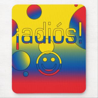 ¡Adiós! Ecuador Flag Colors Pop Art Mouse Pad