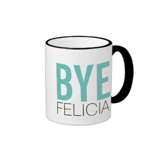 ¡Adiós Felicia! Cita divertida de Meme Taza De Dos Colores