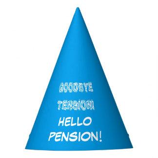 Adiós gorra del fiesta de retiro de la pensión de