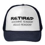 Adiós gorra divertido del retiro de la pensión de