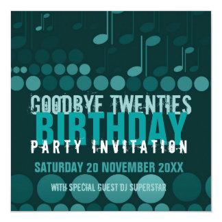 Adiós invitación del baile del cumpleaños 20s