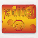 ¡¡Adiós! La bandera de España colorea arte pop Tapetes De Ratones