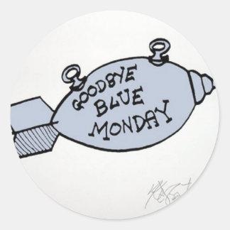 Adiós lunes azul pegatinas