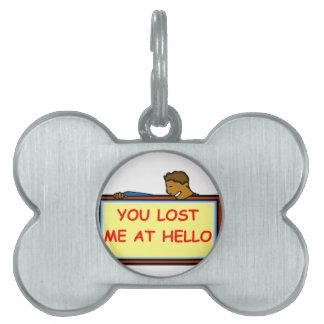 adiós placas de mascota