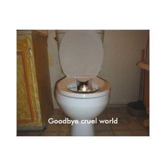 Adiós mundo cruel impresión en lona