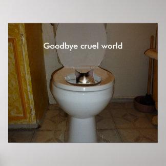 Adiós mundo cruel póster