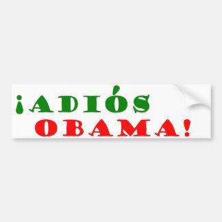 ¡! ¡Adios, Obama! Etiqueta De Parachoque