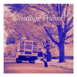 Adiós papel de poster del valor del amigo (mate) póster
