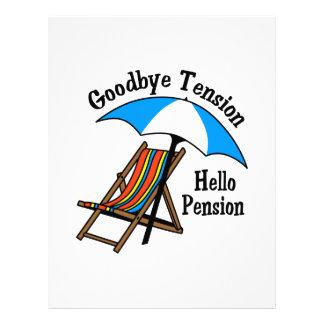 Adiós pensión de la tensión hola membretes personalizados
