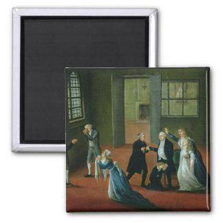Adiós que hace una oferta de Louis XVI a su famili Imán Cuadrado
