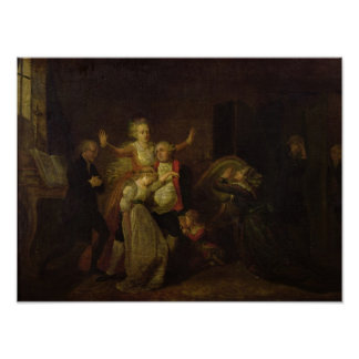 Adiós que hace una oferta de Louis XVI a su famili Posters